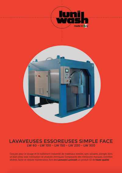 Brochure Lavaveuses essoreuses simple face